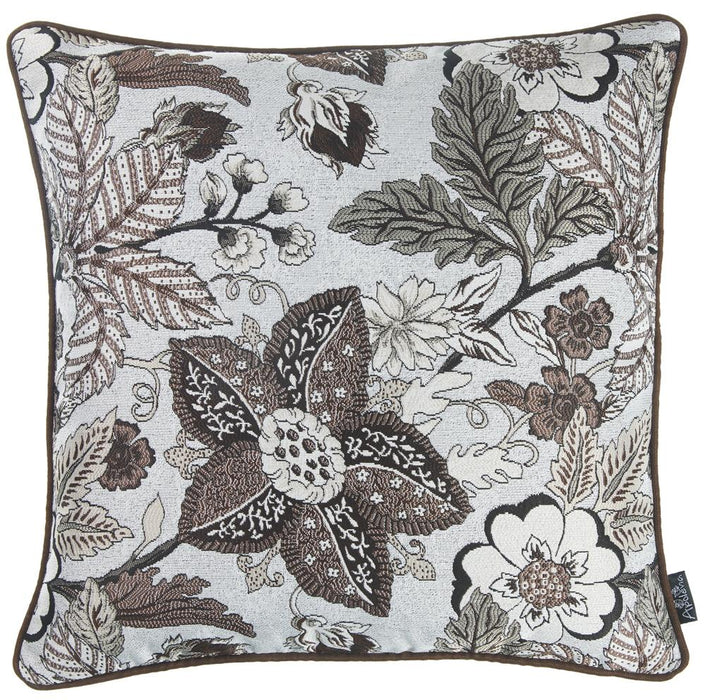 Jacquard Forest Brown Decorative Throw Pillow Cover Home Decor 17''x 17''