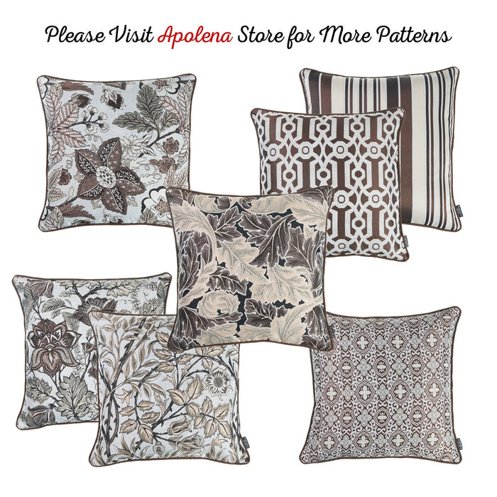 Jacquard Forest Brown Decorative Throw Pillow Cover Home Decor
