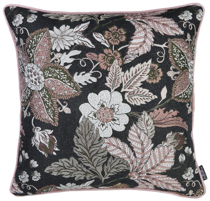 Jacquard Forest Night Decorative Throw Pillow Cover 17''x 17''