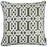 Jacquard Light Brown Geo Decorative Throw Pillow Cover Home Decor 17''x 17''