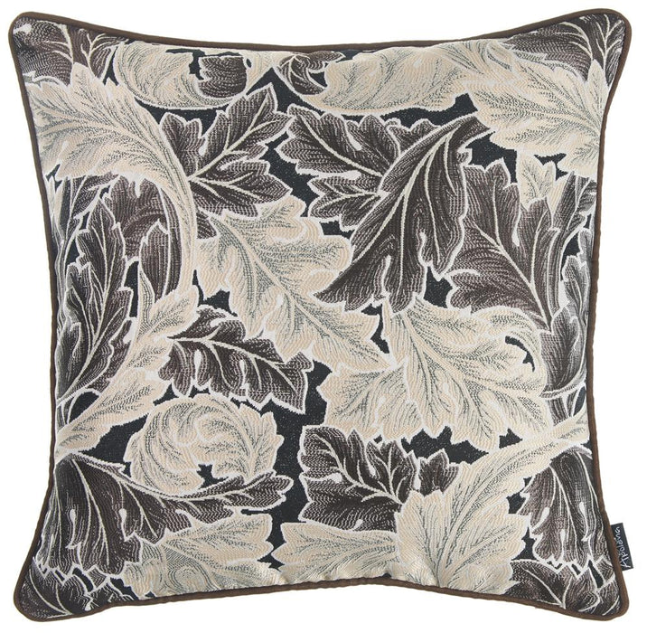Jacquard Light Maple Leaf Decorative Throw Pillow Cover Home Decor 17''x 17''