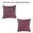 Jacquard Purple Geo Decorative Throw Pillow Cover Home Decor