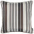 Jacquard Stripe Brown Decorative Throw Pillow Cover Home Decor 17''x 17''