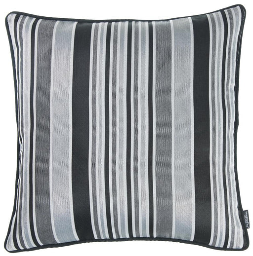 Jacquard Stripe Dark Decorative Throw Pillow Cover Home Decor 17''x 17''