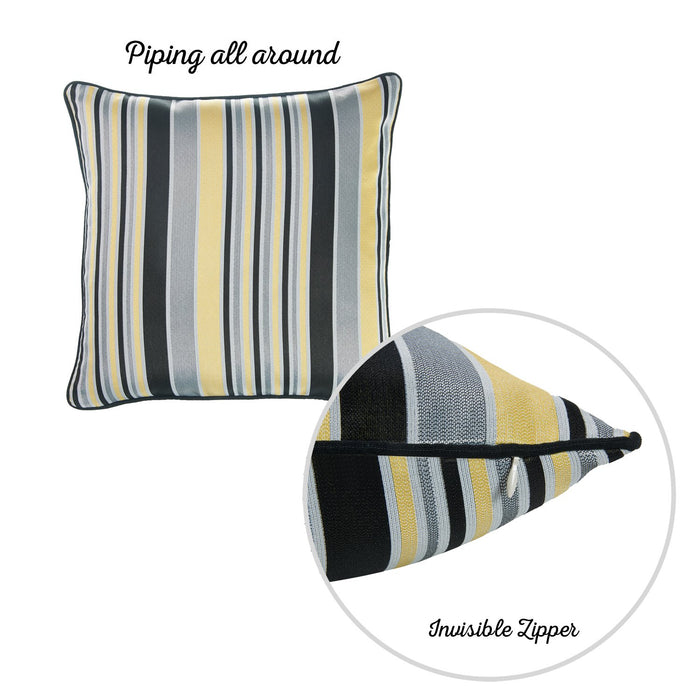 Jacquard Stripe Style Decorative Throw Pillow Cover Home Decor 17''x 17''