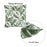Jacquard Tropical Spring Leaf Decorative Throw Pillow Cover Home Decor 17''x 17''