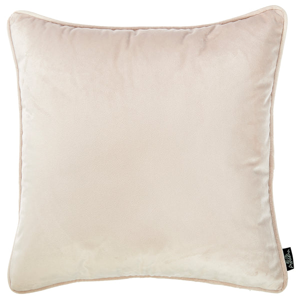 "Velvet Light Beige Decorative Throw Pillow Cover Home Decor 18""x 18"""