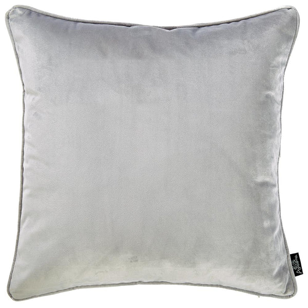 Velvet Light Grey Decorative Throw Pillow Cover Home Decor 18''x 18''