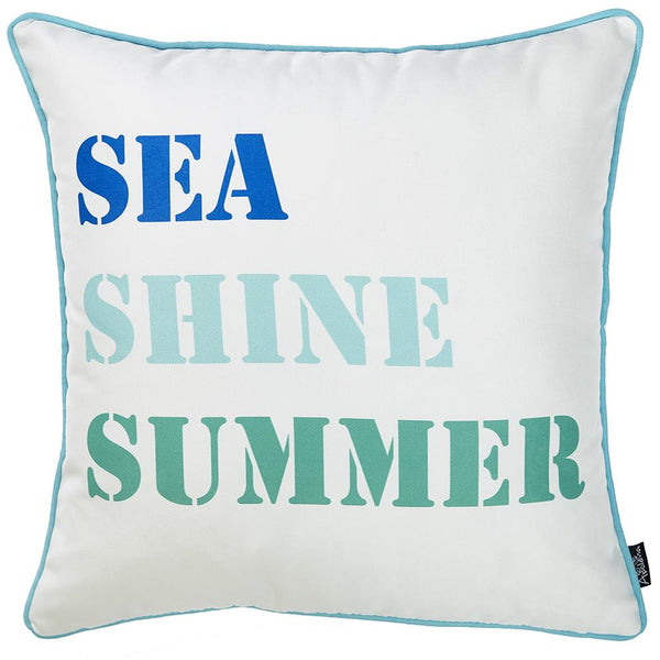 Marine Sea Shine Decorative Throw Pillow Cover Printed Home Decor 18''x18''