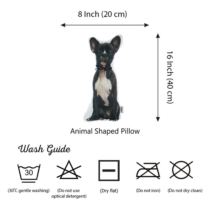 Animal Shaped Pillow, Filled Pillow with French Bulldog Shape
