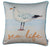 Marine Square Bird Printed Decorative Throw Pillow Cover Home Decor 18''x18''