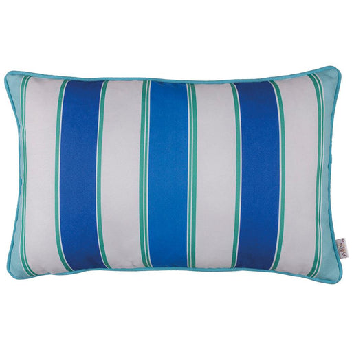 Marine Rectangle Blue Stripes Printed Decorative Throw Pillow Cover H Home Decor 12''x 20''
