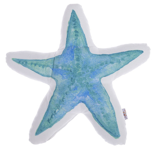 Marine Starfish Shaped Printed Decorative Throw Pillow 16''x 16''