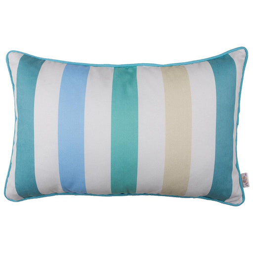 Marine Rectangle Stripes Printed Decorative Throw Pillow Cover Home Decor 12''x 20''