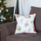 "Merry Christmas Decorative Throw Pillow Cover Christmas Gift 18""x18"""