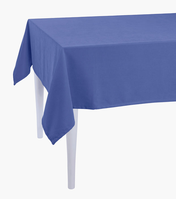 Merry Christmas Solid Blue Decorative Tablecloth
