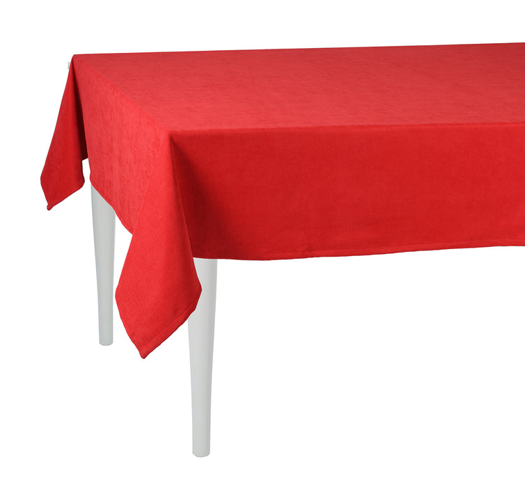 Merry Christmas Solid Red Decorative Tablecloth
