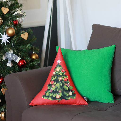 "Merry Christmas Tree Decorative Shaped Pillow Christmas Gift 16""x16"""