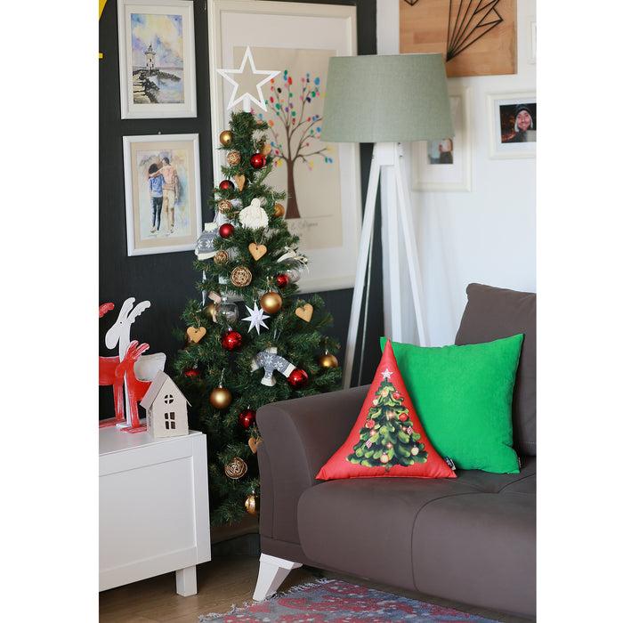 Merry Christmas Tree Decorative Shaped Pillow Christmas Gift 16''x16''
