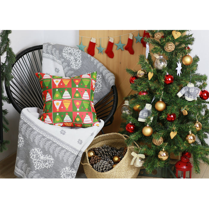 "Merry Christmas Tree Throw Pillow Cover Christmas Gift 18""x18"""