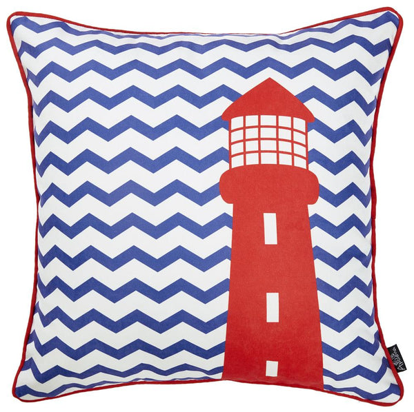 Nautica Light House Decorative Throw Pillow Cover Printed Home Decor Fascinating Nautica Pillow Covers