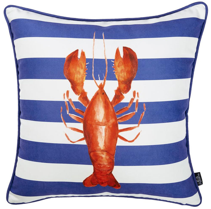 Nautica Lobster Decorative Throw Pillow Cover Printed Home Decor 18''x18''