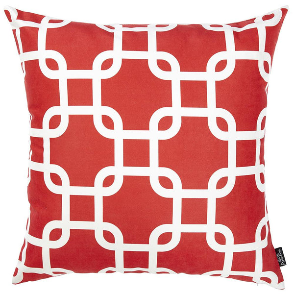 Nautica Red Latice Decorative Throw Pillow Cover Printed Apolena Impressive Nautica Pillow Covers