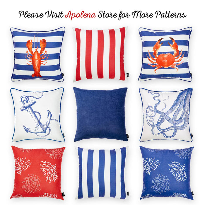 Nautica Red Latice Decorative Throw Pillow Cover Printed Apolena Amazing Nautica Pillow Covers