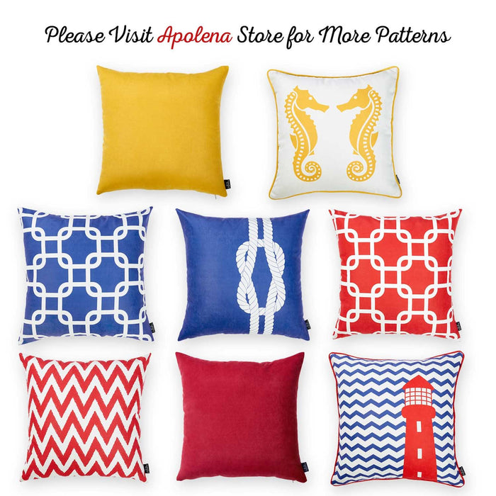 Nautica Red Latice Decorative Throw Pillow Cover Printed Apolena Mesmerizing Nautica Pillow Covers