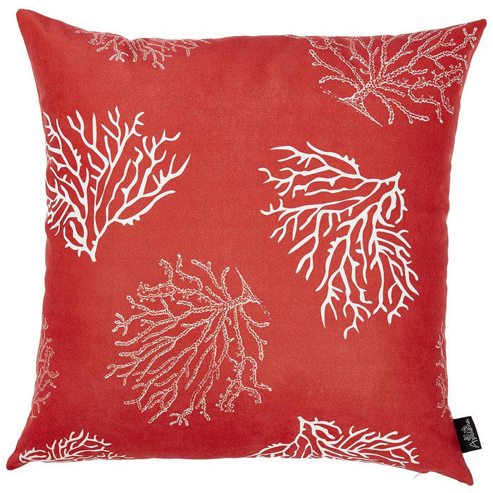Nautica Red  Reef  Decorative Throw Pillow Cover Printed Home Decor 18''x18''