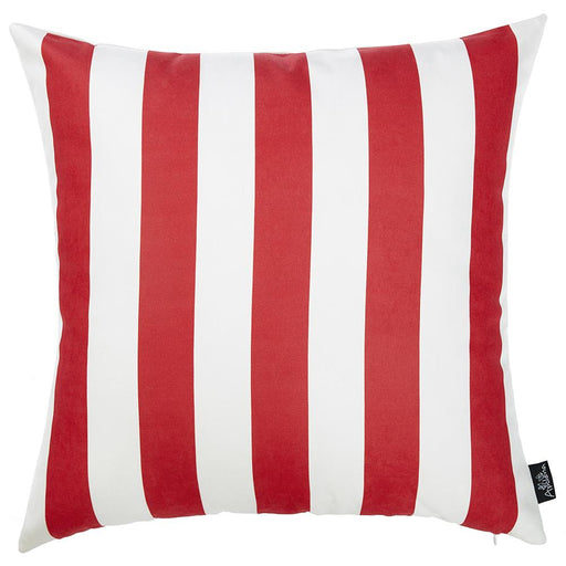Nautica Red Stripe Lumbar Decorative Throw Pillow Cover Printed Home Decor 18''x18''