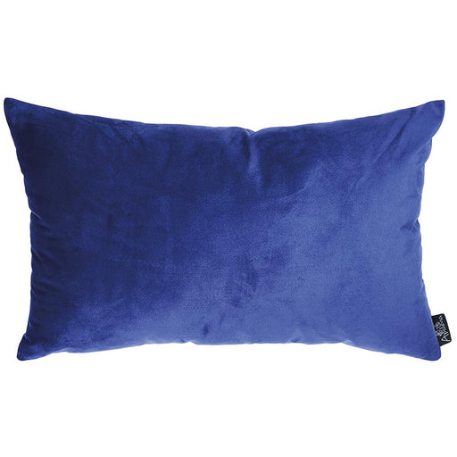 Velvet Navy Blue Decorative Throw Pillow Cover Home Decor 14''x 21''