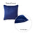 Velvet Navy Blue Decorative Throw Pillow Cover Home Decor 18''x 18''