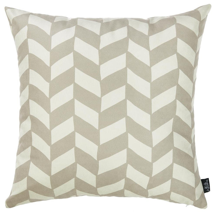 Olive Gray Towers Decorative Throw Pillow Cover Printed Home Decor 18''x18''