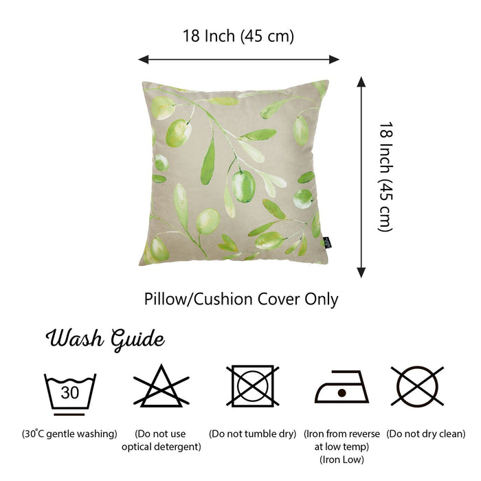 Olive Olives Decorative Throw Pillow Cover Printed Home Decor 18''x18''