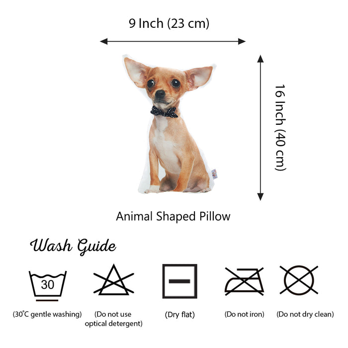 Animal Shaped Pillow, Filled Pillow with Peruvian Hairless Dog Shape