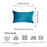 Velvet Petrol Blue Decorative Throw Pillow Cover Home Decor 14''x 21'' (2 Pcs in set)