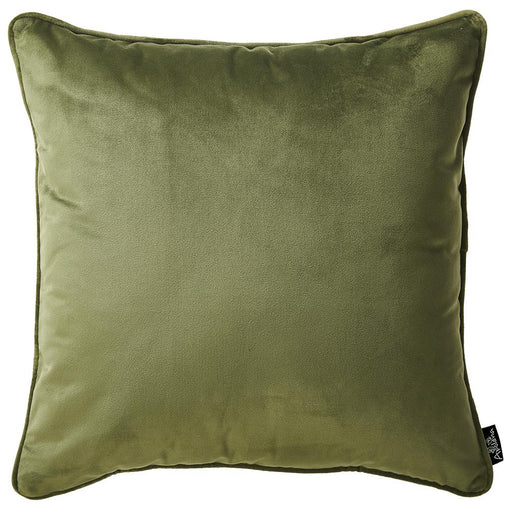 Velvet Green Decorative Throw Pillow Cover Home Decor 18''x 18''