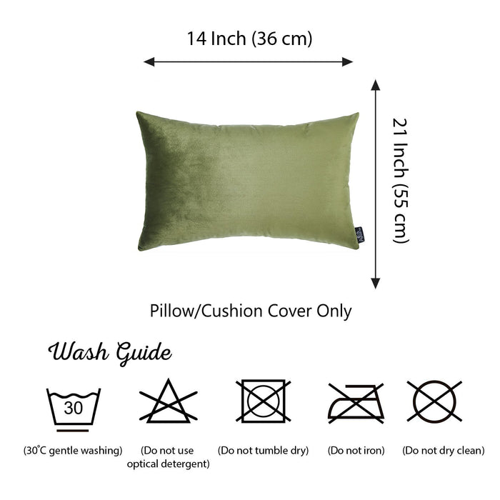 Velvet Pickle Green Decorative Throw Pillow