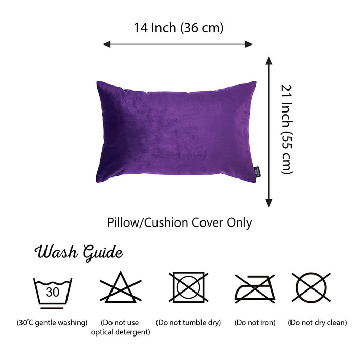 Velvet Purple Decorative Throw Pillow Cover
