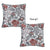 Jacquard Weaver Decorative Throw Pillow Cover 17''x17'' (2 Pcs in set)