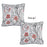 Jacquard Flower Decorative Throw Pillow Cover 17''x17''(2 Pcs in set)
