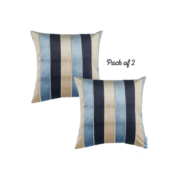 "Velvet Blue Luxurious Throw Decorative Pillow Case Set of 2 pcs (17 ""x 17"") Square"