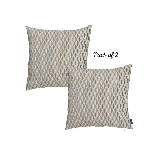 Jacquard Honeycomb Decorative Throw Pillow Cover Set Of 2 Pcs 17''x 17'' Square