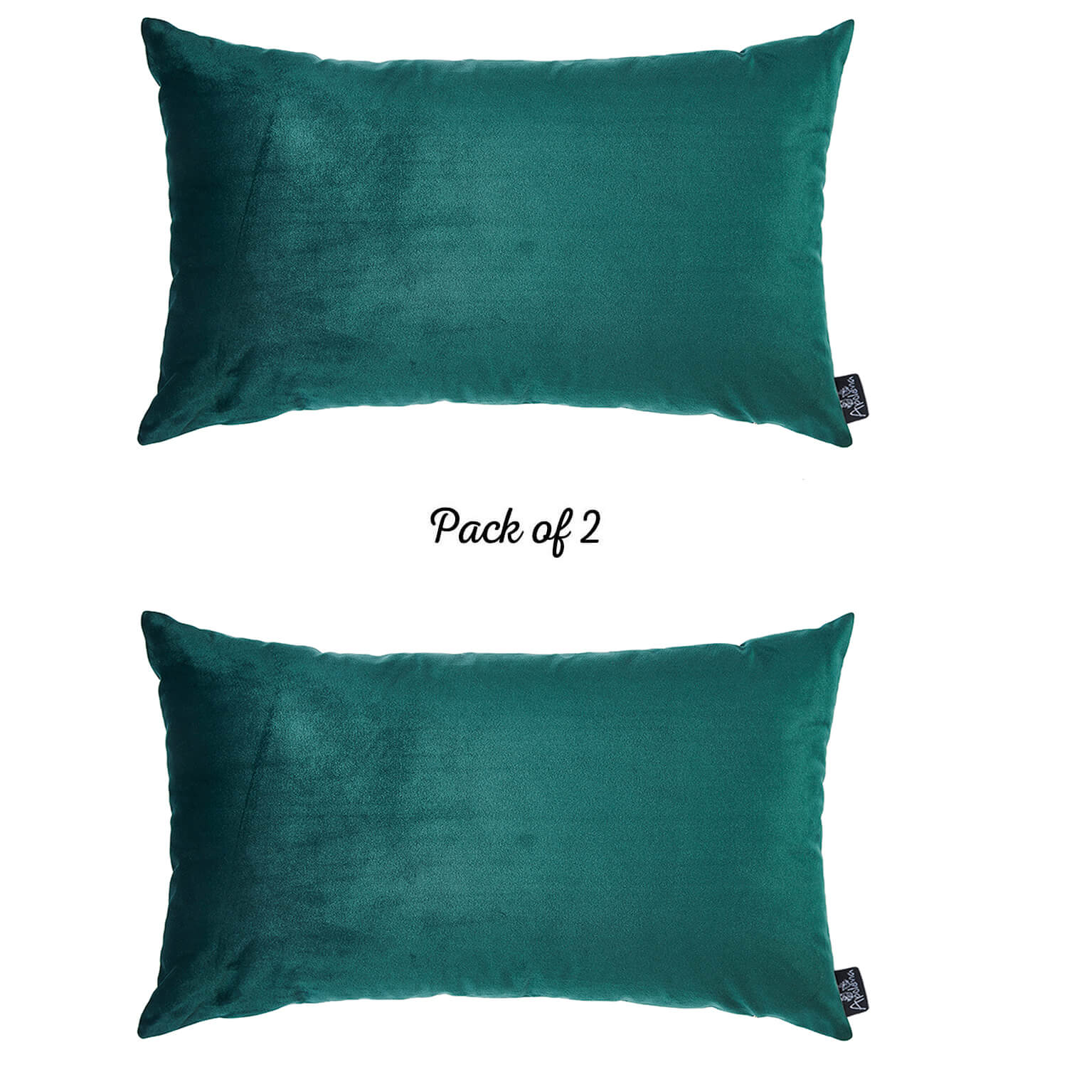 Velvet Dark Emerald Green Decorative Throw Pillow Cover Home Decor 14 X 21 2 Pcs In Set