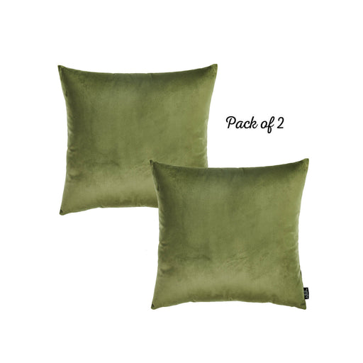 Velvet Green Decorative Throw Pillow Cover Home Decor 18''x 18'' (2 Pcs in set)