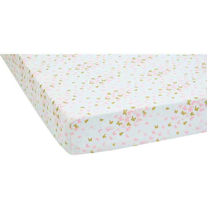 Sparkle Fitted Crib Sheet Set (Set of 2) Pink