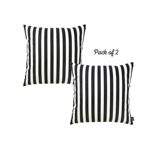 "Easy Care Grey Stripes Decorative Throw Pillow Cover Set Of 2 Pcs 20""x20"""
