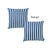 "Easy Care Blue Stripes Decorative Throw Pillow Cover Set Of 2 Pcs 20""x20"""