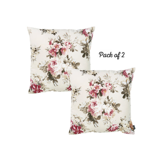 "Easy Care Other Fushia Floral Decorative Throw Pillow Cover Home Decor 20""x20"" 2 PCS"
